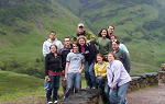 Photo of Landmark students at Glencoe in the scottish highlands, Scotland UK