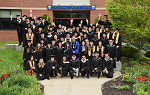 Group shot of 2018 Spring Graduates outside the Click Family Athletic Center.