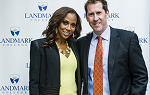 Holly Robinson Peete and Dr. Peter Eden, president of Landmark College, at the College's 2016 fundraiser in New York City