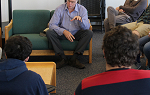 John Elder Robison, author and advocate for neurodiverse individuals, visits with Landmark College students