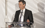 Seth Meyers speaks during the 2018 Champions of Change gala fundraiser for Landmark College.