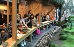 Students having Tea at Bamboo Garden during Summer 2019 Study Abroad trip to Japan.