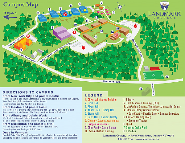 Map of Landmark College campus