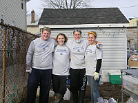 Meghan and three others volunteering to help after Hurricane Sandy