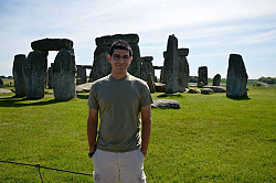 Ben standing in front of Stonehenge