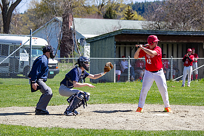 Landmark College students playing baseball