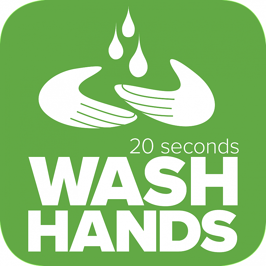 Landmark College COVID-19 wash hands 20 seconds icon