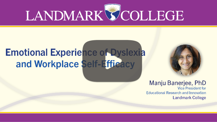 launch screen from Emotional Experience of Dyslexia and Workplace Self-Efficacy presentation