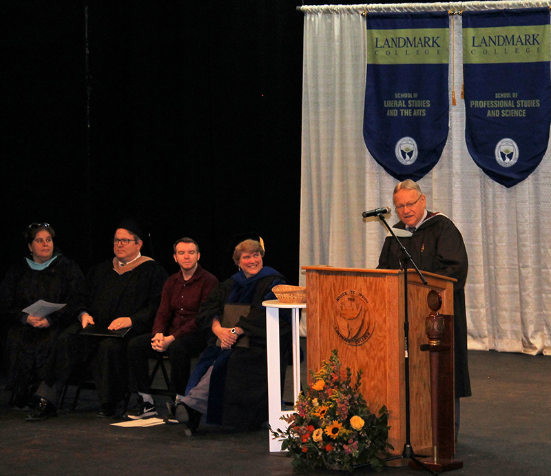 Associate professor of History Michael Hutcheson speaks at 2019 Spring Convocation