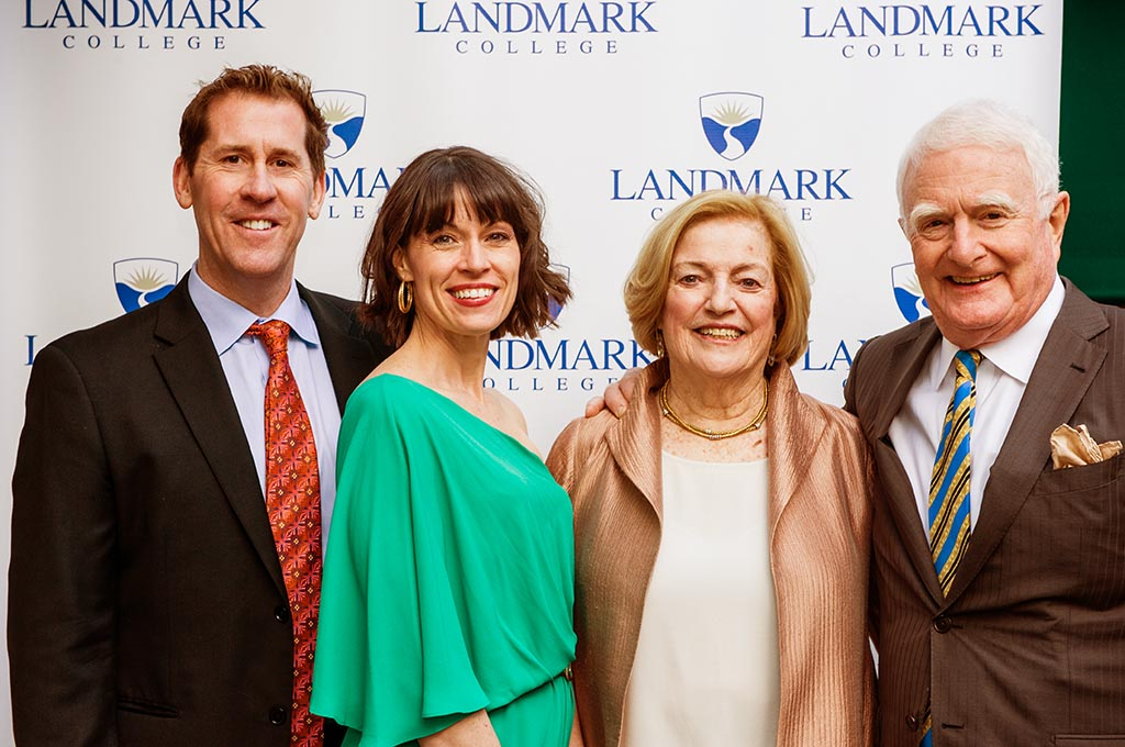 "Nan and Chuck Strauch at LC's 2016 ""Unlocking Futures"" fundraising gala, with President Peter Eden and his wife, Joanne"