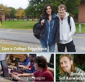 students living and learning on campus