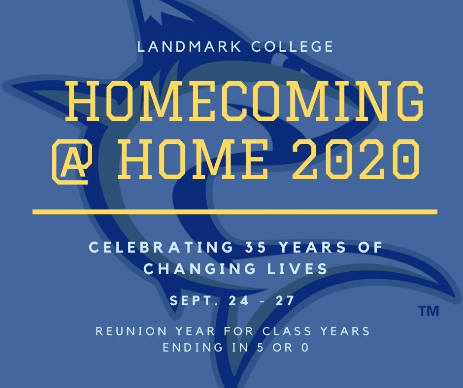 Landmark College Homecoming 2020 logo