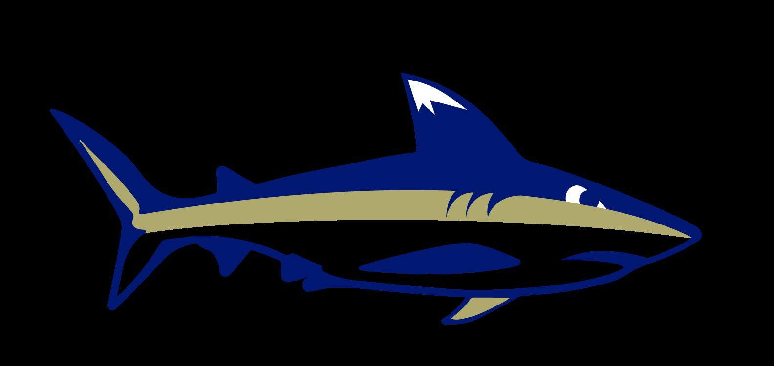 Landmark College's Mascot: Finn the Shark.