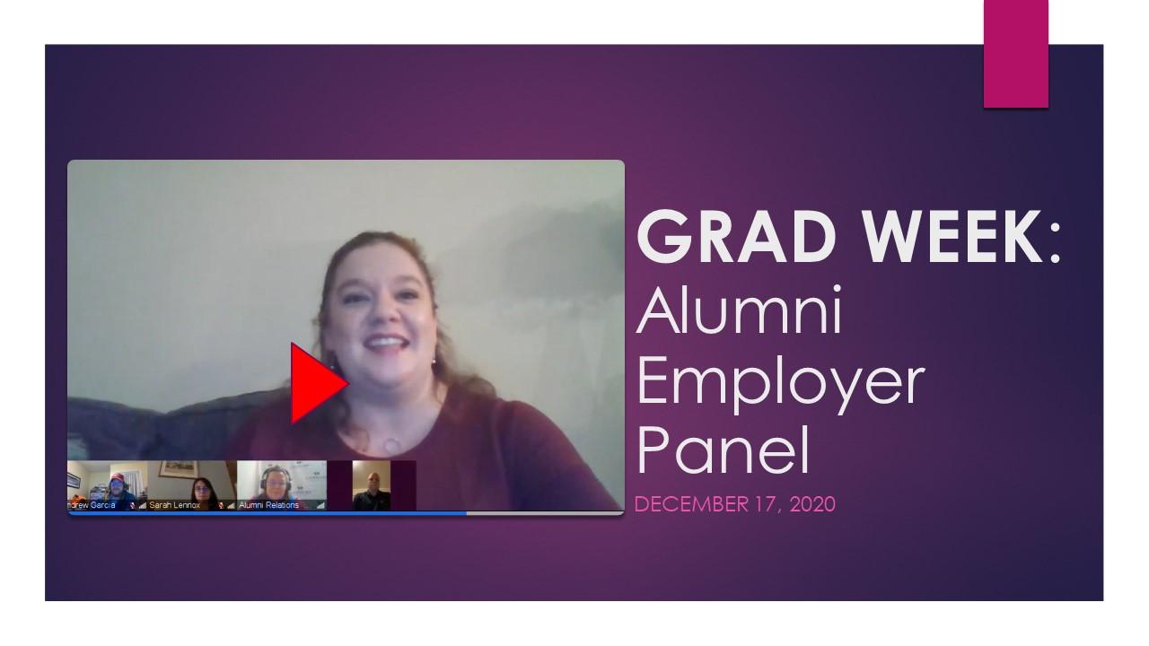 grad week employer panel