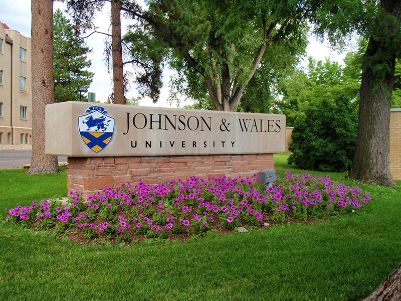 Entrance sign at Johnson & Wales University, Denver Campus