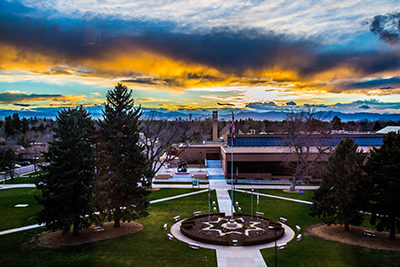 Sunset over Johnson and Wales Denver Campus