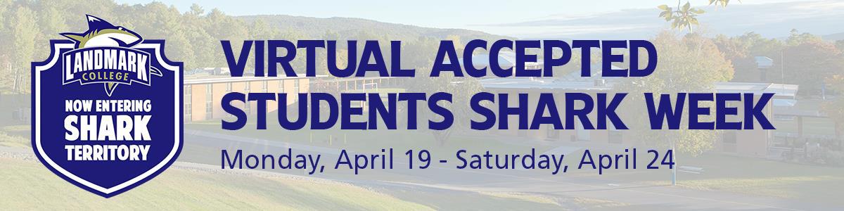 Virtual Accepted Student Shark Week Header Image