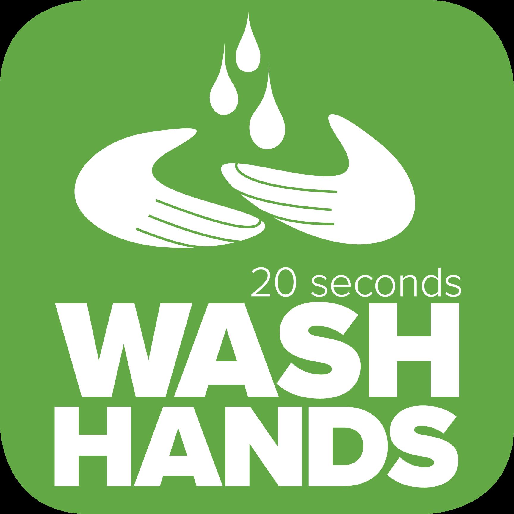 Landmark College COVID-19 wash hands 20 seconds icon