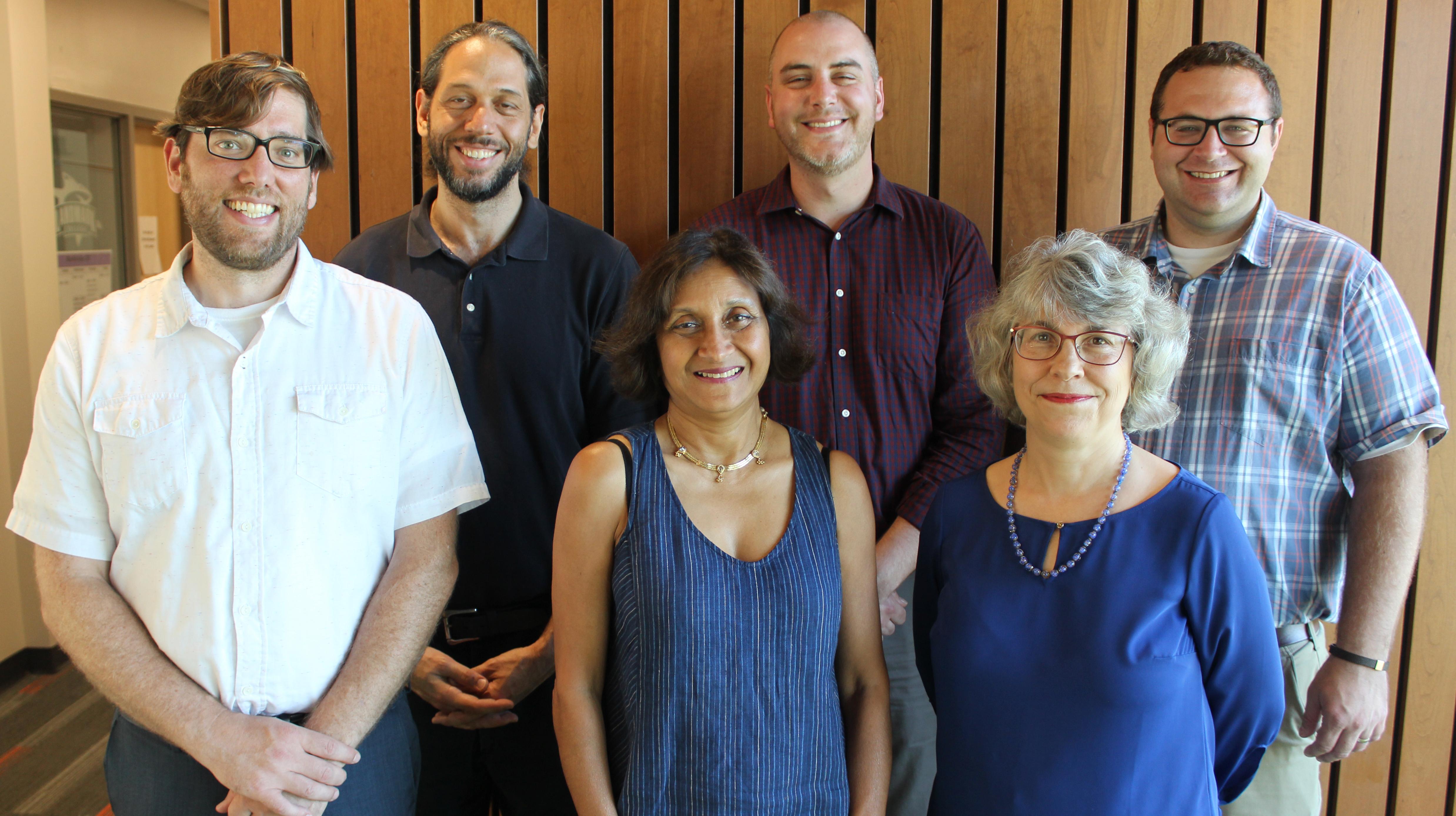 A photo of the LCIRT team (from left to right: Rick Bryck, Ibrahim Dahlstrom-Hakki, Manju Banerjee, Christopher Wenz, Carol Beninati, Adam Lalor)