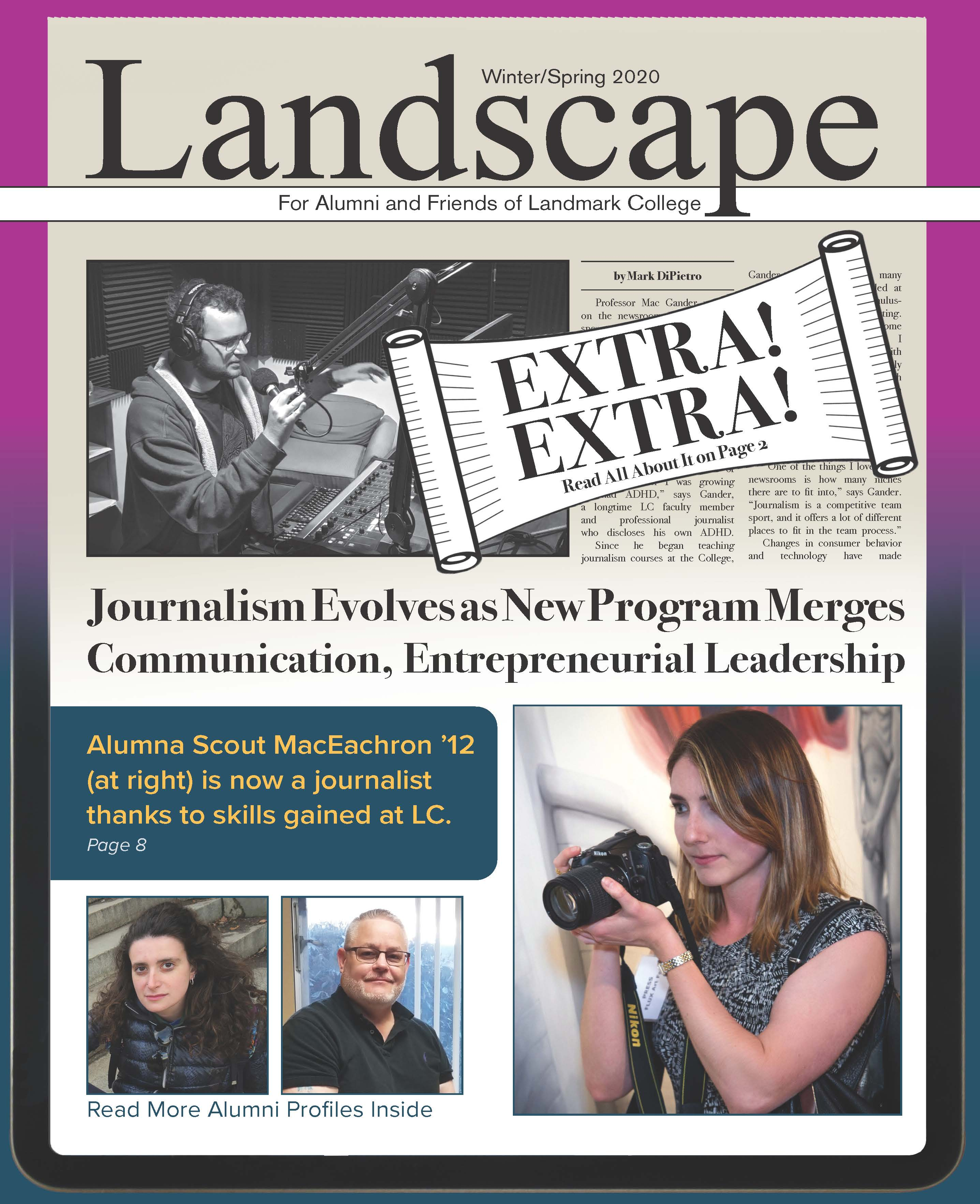 The cover of the Winter/Spring 2020 edition of Landscape