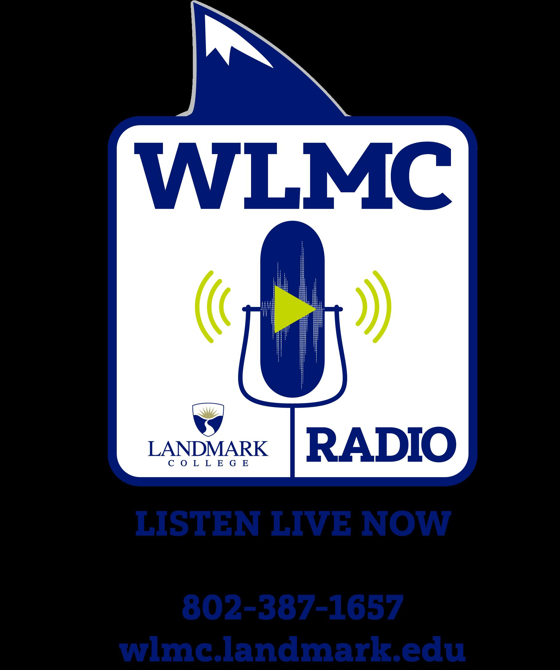 WLMC Radio at Landmark College logo