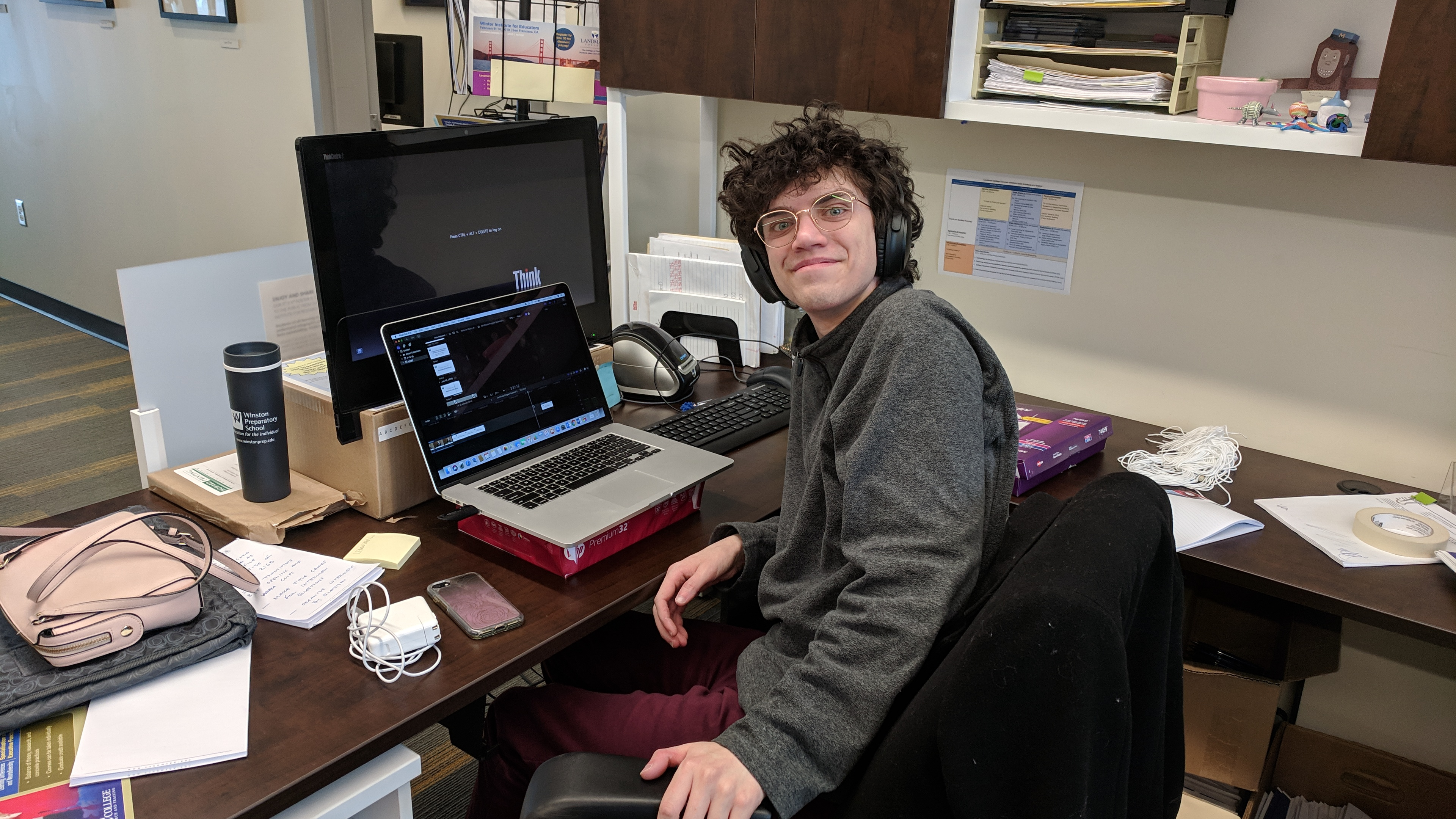 Student working at computer as part of Employment Readiness Experience