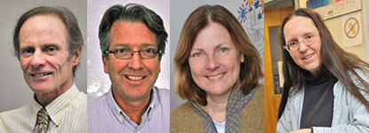 Headshot of the four retiring faculty members